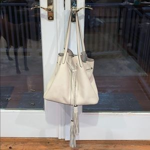Rebecca Minkoff Pebbled Drawstring Tassel Tote Bag
